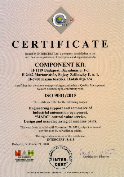 component-ISO-certificate